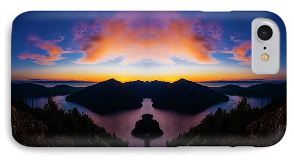 Lake Crescent Reflection IPhone Case