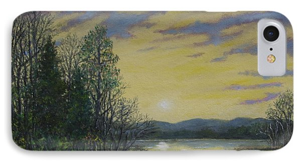 IPhone Case featuring the painting Lake Dawn by Kathleen McDermott