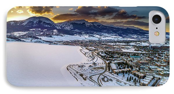 IPhone 7 Case featuring the photograph Lake Dillon Sunset by Sebastian Musial