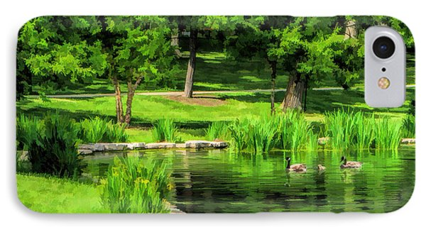 Lake Ellyn Geese IPhone Case