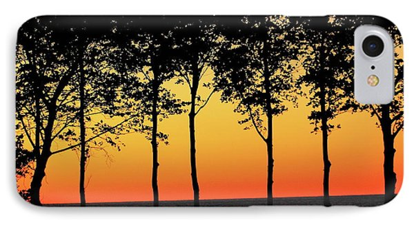 IPhone Case featuring the photograph Lake Erie Silhouettes by Bruce Patrick Smith