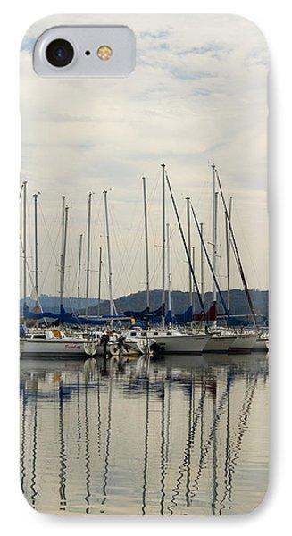 Lake Guntersville Alabama Sailboat Harbor IPhone Case by Kathy Clark