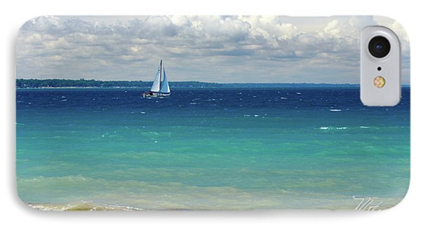 IPhone Case featuring the photograph Lake Huron Sailboat by Meta Gatschenberger