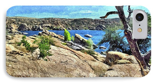 Lake In The Dells 1 IPhone Case by John Trommer