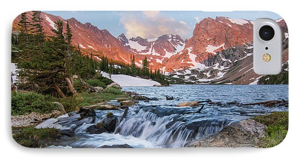 IPhone Case featuring the photograph Lake Isabelle Sunrise by Aaron Spong