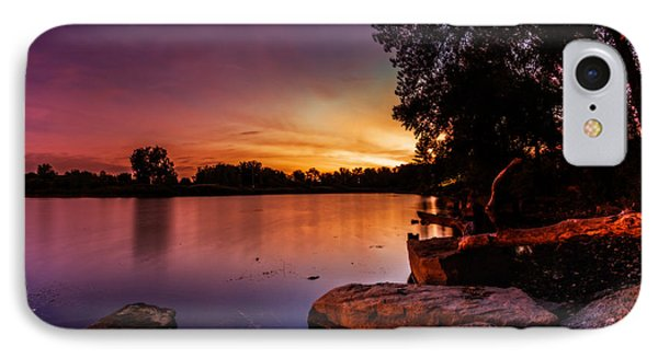 IPhone Case featuring the photograph Lake Kirsty Twilight by Chris Bordeleau
