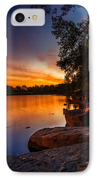 IPhone Case featuring the photograph Lake Kirsty Twilight - Vertical by Chris Bordeleau