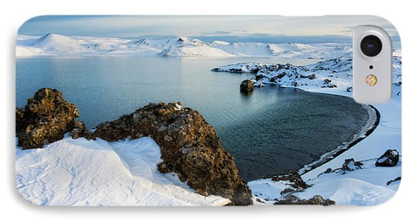 IPhone Case featuring the photograph Lake Kleifarvatn Iceland In Winter by Matthias Hauser