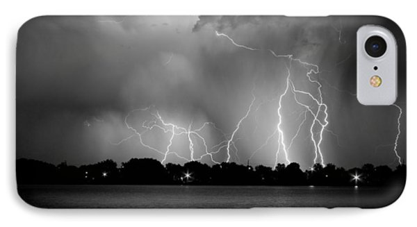 Lake Lightning Two Bw Phone Case by James BO  Insogna