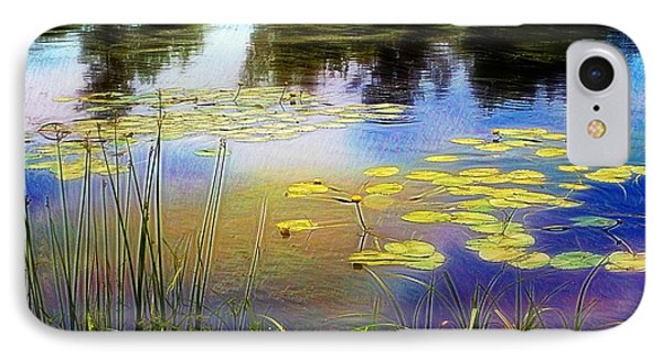 Lake Lilly Monet Style Phone Case by Louise Lavallee