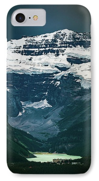 IPhone Case featuring the photograph Lake Louise At Distance by William Lee