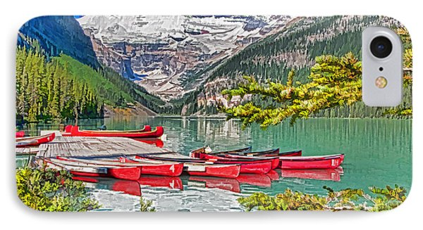 Lake Louise Phone Case by Dennis Cox WorldViews