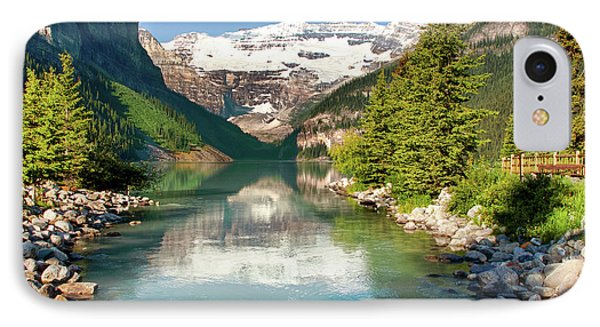 IPhone Case featuring the photograph Lake Louise by Mary Jo Allen