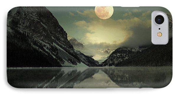 Lake Louise Moon Glow IPhone Case by Andrea Hazel Ihlefeld