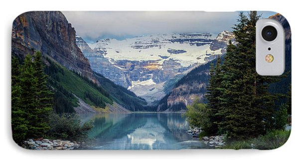 Lake Louise Summer Morning IPhone Case by Joan Carroll