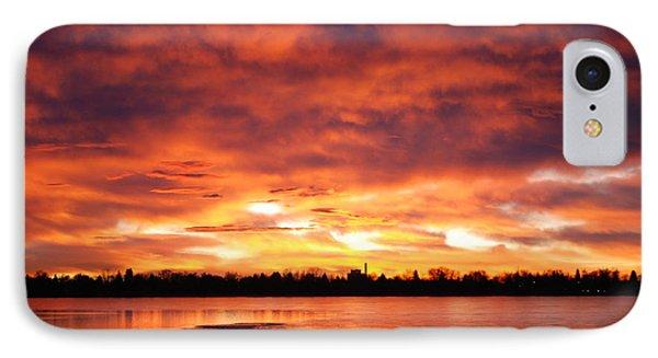 Lake Loveland Sunrise Phone Case by Billie Colson