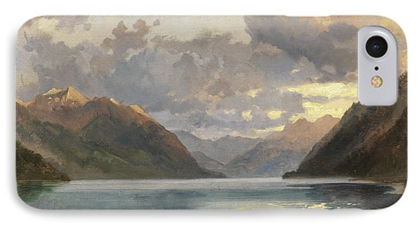 Lake Lucerne IPhone Case by James Duffield Harding