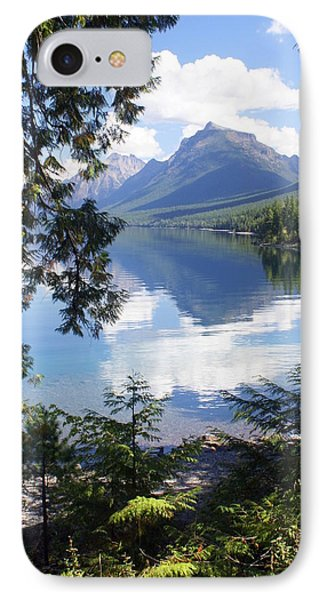 Lake Mcdlonald Through The Trees Glacier National Park Phone Case by Marty Koch