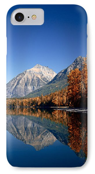 Lake Mcdonald Autumn IPhone Case by Lawrence Boothby