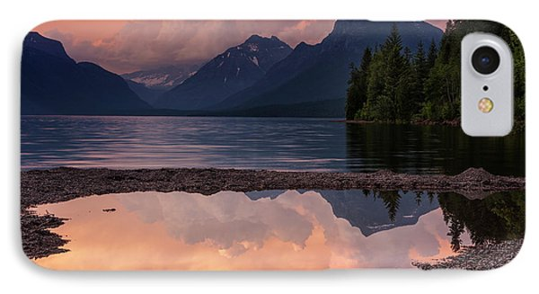 Lake Mcdonald Sunset IPhone Case by Mark Kiver
