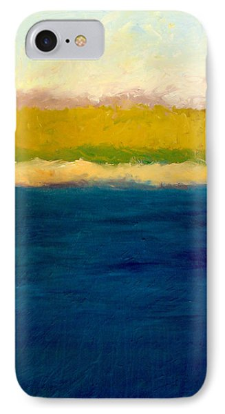Lake Michigan Beach Abstracted Phone Case by Michelle Calkins