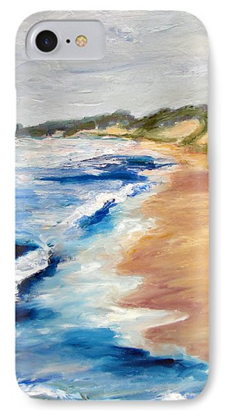 Lake Michigan Beach With Whitecaps Detail Phone Case by Michelle Calkins