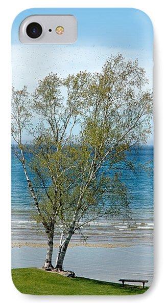 IPhone Case featuring the photograph Lake Michigan Birch Tree by LeeAnn McLaneGoetz McLaneGoetzStudioLLCcom