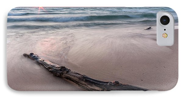 IPhone Case featuring the photograph Lake Michigan Driftwood by Adam Romanowicz