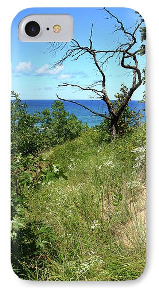IPhone Case featuring the photograph Lake Michigan Near Cowles Bog by Scott Kingery