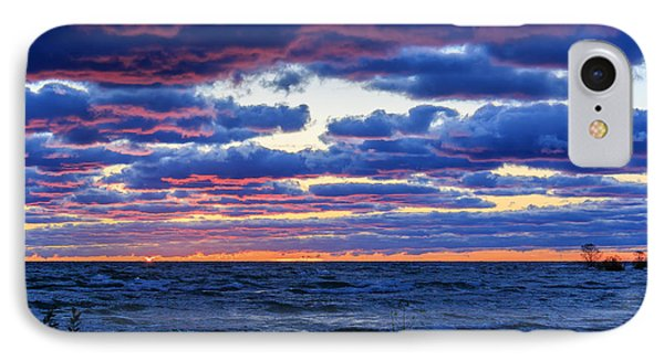 Lake Michigan Windy Sunrise IPhone Case by Joni Eskridge
