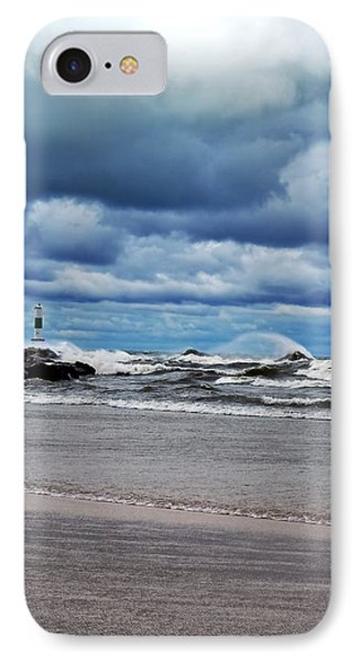 Lake Michigan With Big Wind  Phone Case by Michelle Calkins