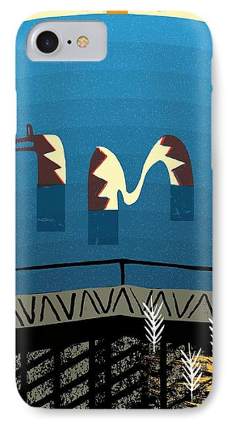 Lake Monster IPhone Case by Benjamin Gottwald