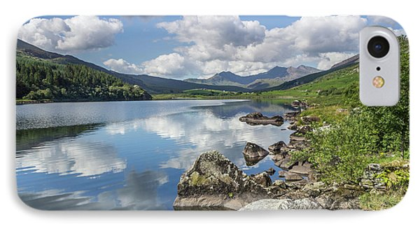 IPhone Case featuring the photograph Lake Mymbyr And Snowdon by Ian Mitchell