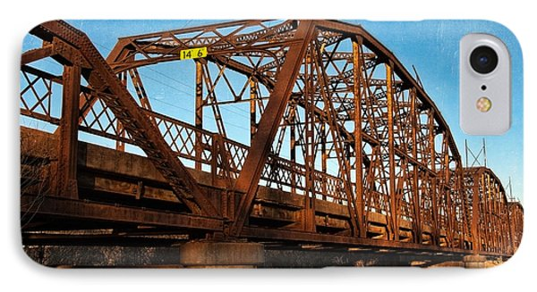 Lake Overholser Bridge Phone Case by Lana Trussell