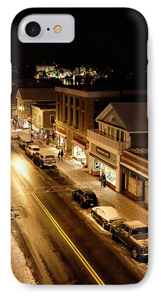 Lake Placid New York - Main Street IPhone Case by Brendan Reals