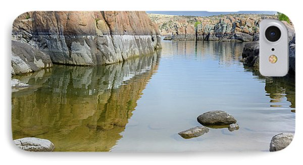 Lake Reflections At Granite Dells IPhone Case by Daniel Dean