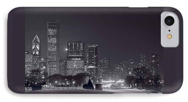 Lake Shore Drive Chicago B And W IPhone Case by Steve Gadomski