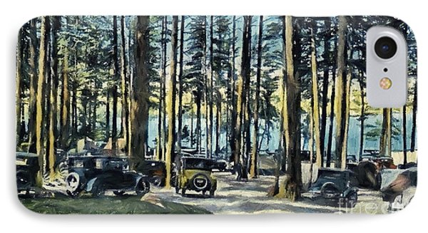 Lake Shore Park - Gilford N H IPhone Case by Mim White