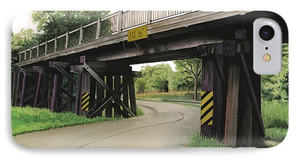 IPhone Case featuring the painting Lake St. Rr Overpass by Ferrel Cordle