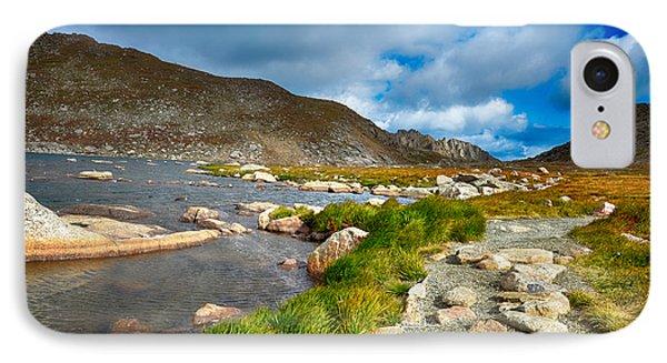 Lake Summit Tundra Path IPhone Case by Angelina Vick