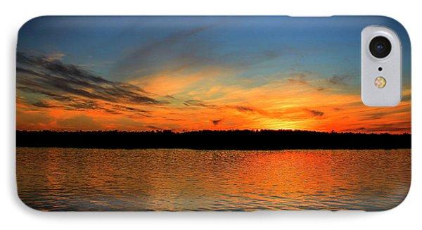 Lake Sunset Light Reflections Art IPhone Case