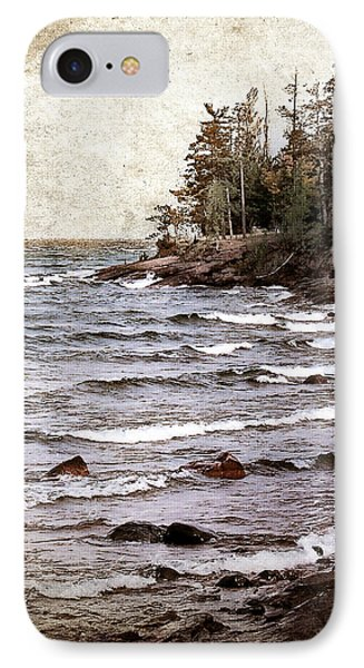 IPhone Case featuring the photograph Lake Superior Waves by Phil Perkins