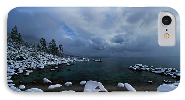 Lake Tahoe Snow Day IPhone Case by Sean Sarsfield