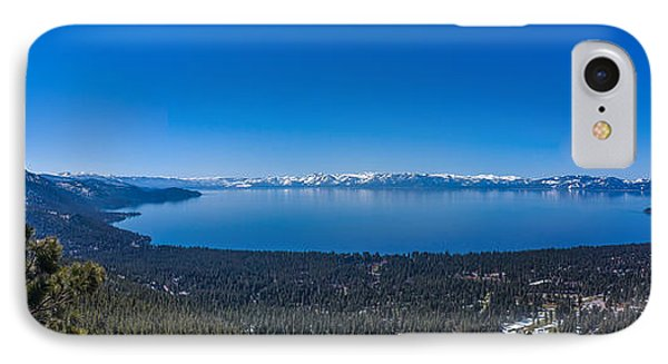 Lake Tahoe Spring Overlook Panoramic IPhone Case by Scott McGuire