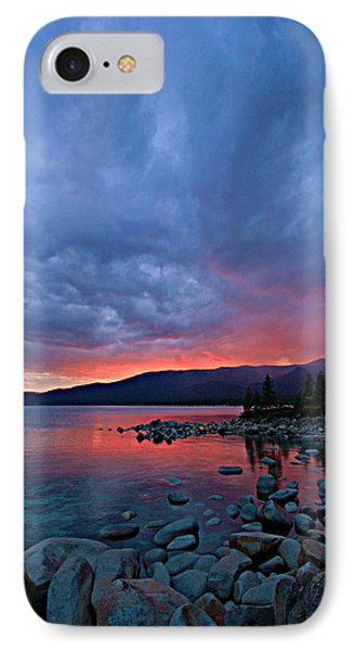 Lake Tahoe Sunset Portrait 2 IPhone Case by Sean Sarsfield