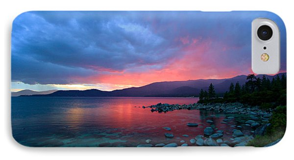 Lake Tahoe Sunset IPhone Case by Sean Sarsfield