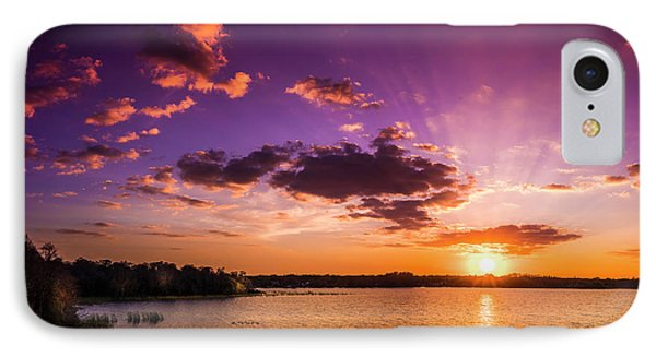 Lake Tarpon Sunset IPhone Case by Marvin Spates