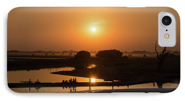 Burmese Python iPhone 7 Case - Lake Taungthaman by Delphimages Photo Creations