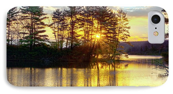 Lake Tiorati Golden Sunrise IPhone Case