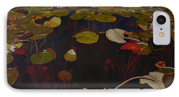 IPhone Case featuring the painting Lake Washington Lilypad 7 by Thu Nguyen